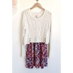 Anthropologie Lilka Duxbury Tribal Sweater Dress